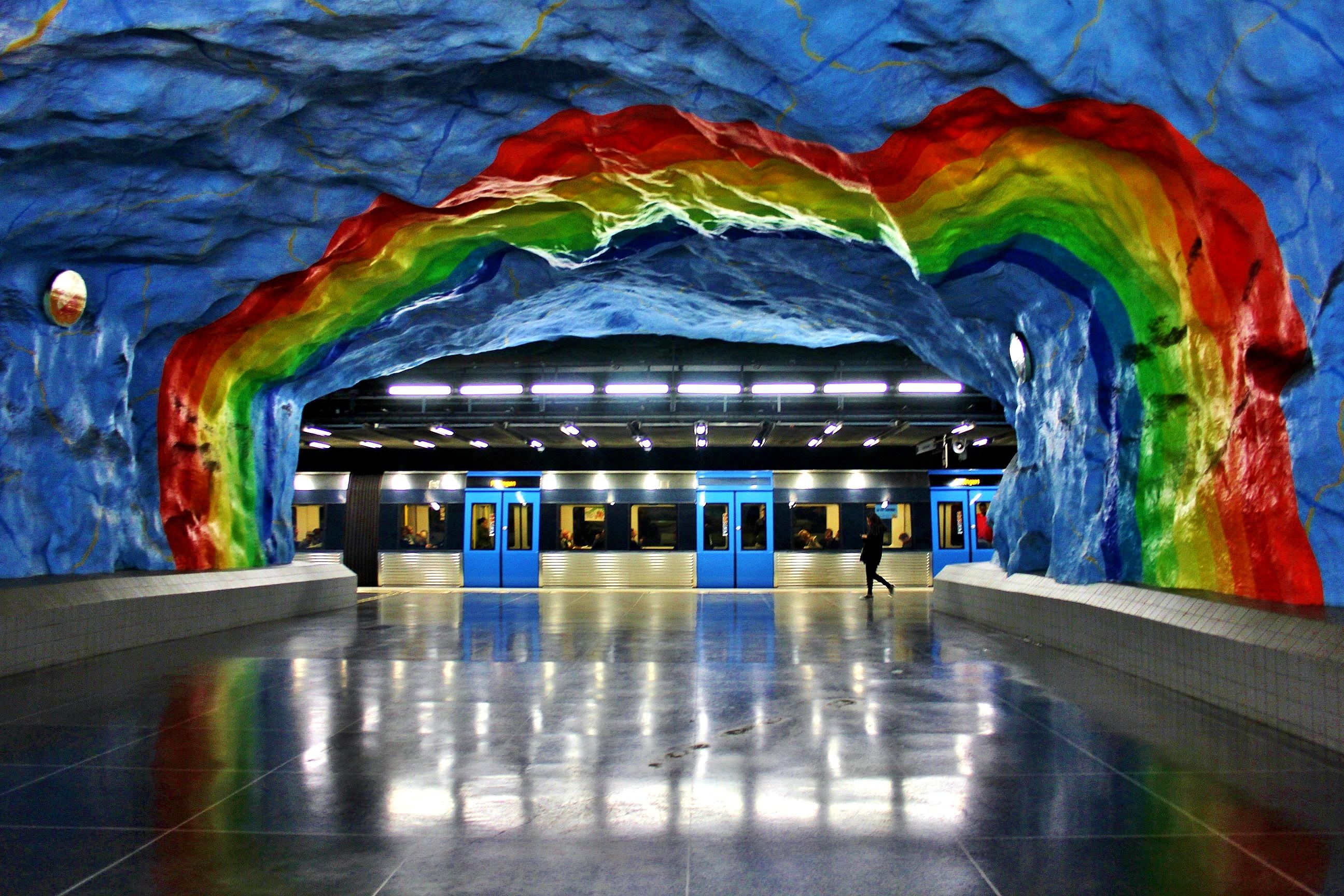 Stockholm-Stadion-Underground-Station