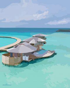 Maldives Illustration